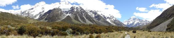 panorama mount cook